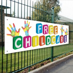 Free Childcare Banner