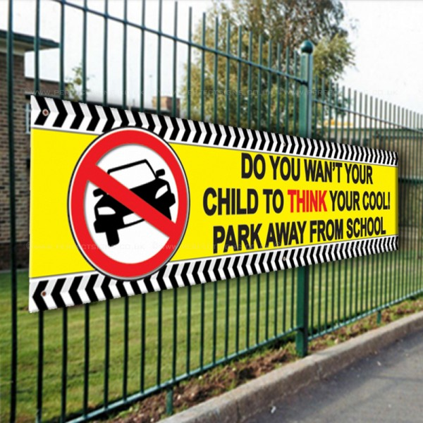 Do You Want Your Child To Think Your Cool Park Away From School PVC Banner