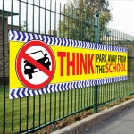Think Park Away from the School Banner