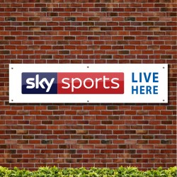 Sky Sports Live Here PVC Banner