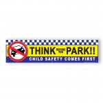 Think Before You Park Child Safety Comes First Red PVC School Banner