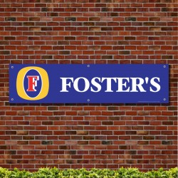 Fosters Logo Blue Garage Workshop PVC Banner