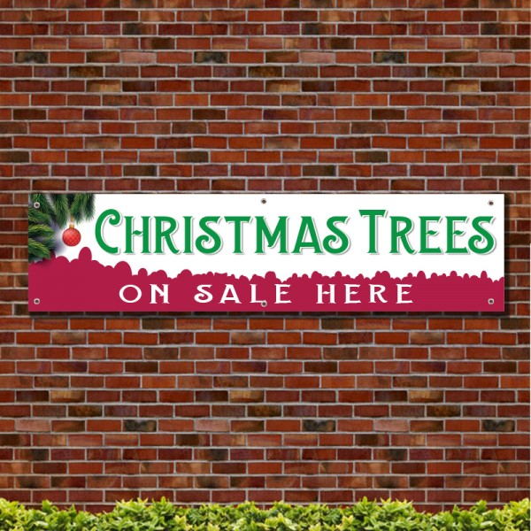Christmas Tree On Sale Here PVC Banner