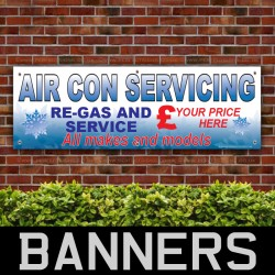 Air Con Servicing Custom PVC Banner