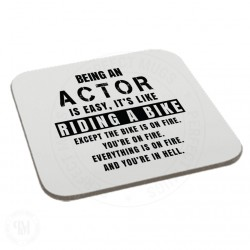 Being An Actor is Easy It is Like Riding a Bike Coaster