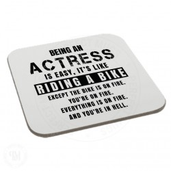 Being a Actress is Easy It is Like Riding a Bike Coaster