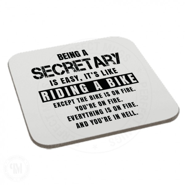 Being a Secretary is Easy It is Like Riding a Bike Coaster