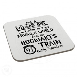 Just Wizard Girl Living in a Muggle World Took The Hogwarts Coaster