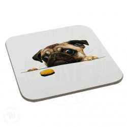 Cute Pug Biscuit Gift Coaster