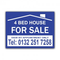 4 Bed House FOR SALE Correx Sign Board