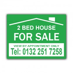 2 Bed House FOR SALE Correx Sign Board