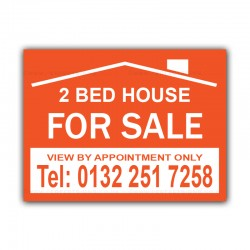 2 X  Estate Agent FOR SALE Correx Sign Board CORCP00004