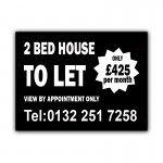 2 Bed House To Let Correx Sign Board