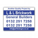 General Builders  Correx Sign Board