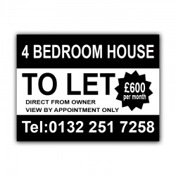 4 Bedroom House TO LET Correx Sign Board CORCP00020