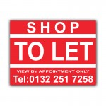Shop To Let Correx Sign Board