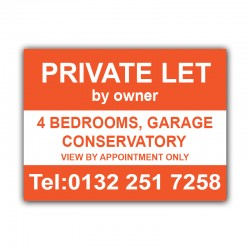 Private Let Correx Sign Board