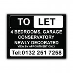 To Let 4 Bedrooms Garage Conservatory  Correx Sign Board