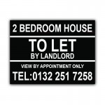 2 Bedroom House To Let Correx Sign Boards