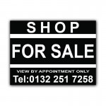 Shop For Sale Correx Sign Board