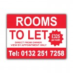 Rooms TO LET Correx Sign Board