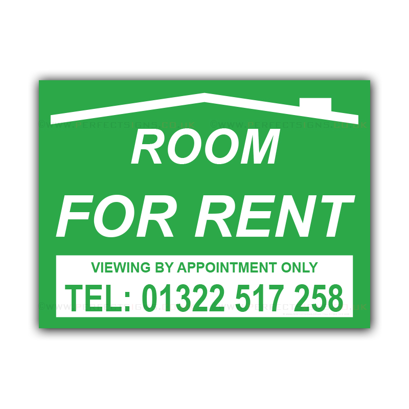 Room For Rent: Room For Rent Correx Sign Board