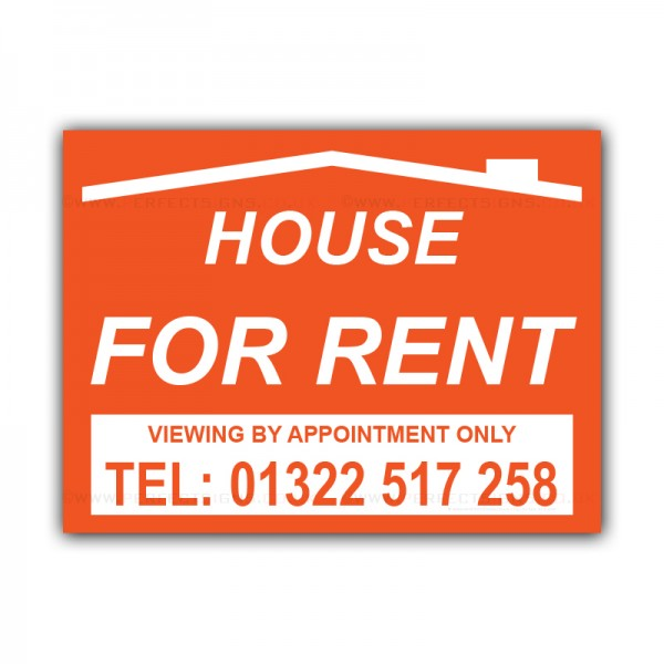 House For Rent Correx Sign Board