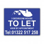 House Bedroom To Let Correx Sign Board