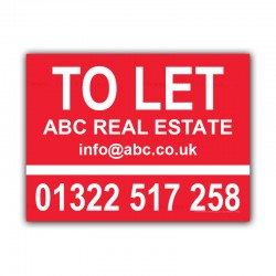 To Let Estate Agent Property Custom House Correx Sign Board