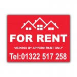 Property For Rent Signs  Estate Agent Bed House Correx Sign Board