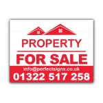 Property for sale Estate Agent House Bed Signs Correx Sign Board