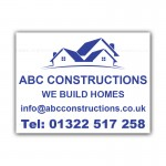Construction Business Property Builder Signs  Correx Sign Boards