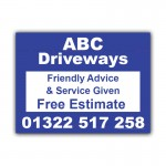 Driveway Business Property Builder Signs  Correx Sign Boards