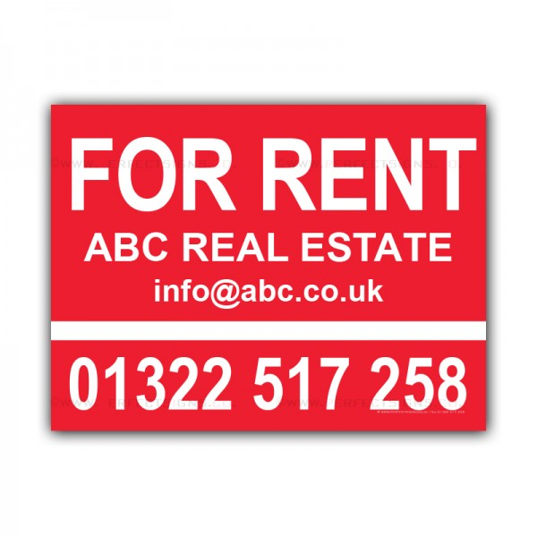 For Rent Estate Agent Property House Bed Signs Correx Sign Boards