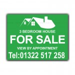 House For Sale Estate Agent Property House Bed Signs Correx Sign Boards
