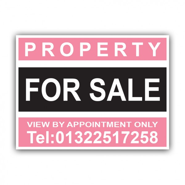 Property For Sale Correx Sign Printed Boards