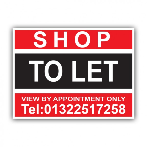 Shop To Let Correx Sign Printed Boards