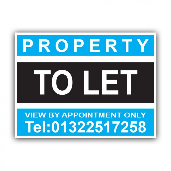 Property To Let Correx Sign Printed Personalised Boards
