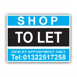Shop To Let Correx Sign Printed Personalised Boards
