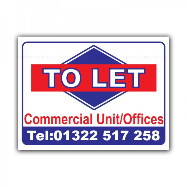 To Let Printed Correx Sign Boards
