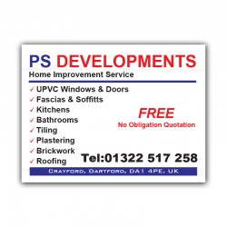 Construction Developments Printed Correx Sign Boards