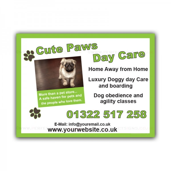 Dog Daycare Boarding Luxury Doggy Printed Correx Sign Boards