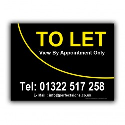 To Let Correx Sign Printed Boards