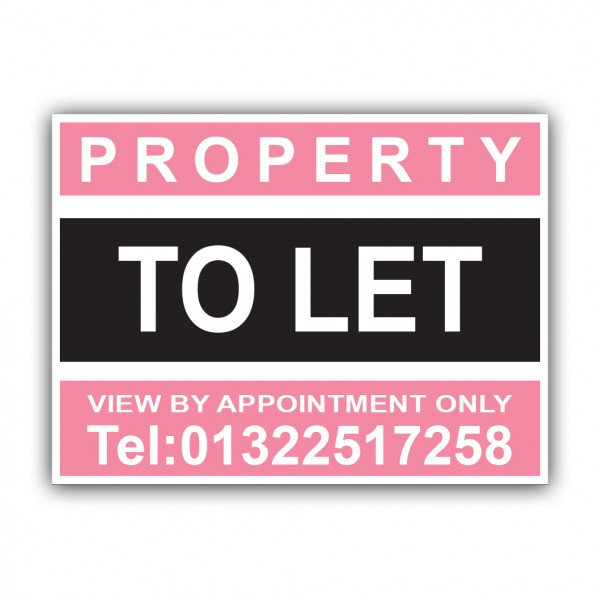 Property To Let Correx Sign Printed Boards