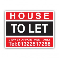House To Let Correx Sign Printed Boards