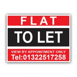 Flat To Let Correx Sign Printed Boards