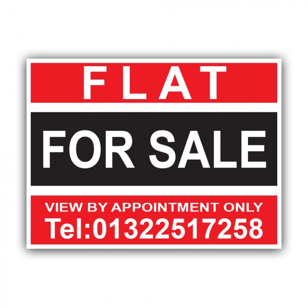 Flat For Sale Correx Sign Printed Boards