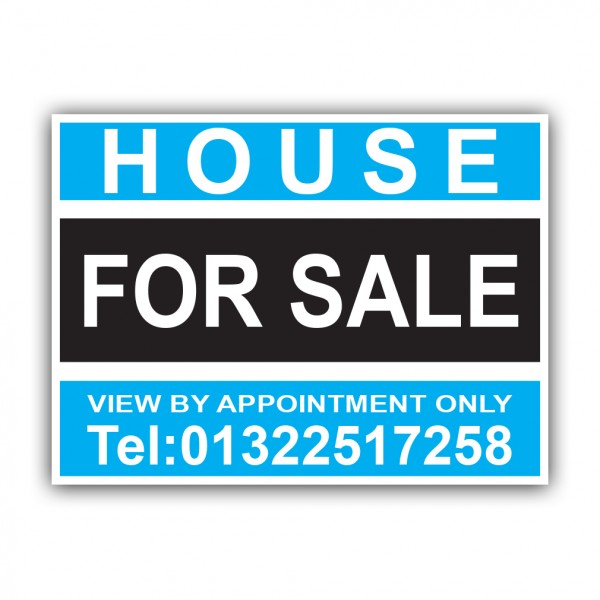 House For Sale Correx Sign Printed Personalised Boards
