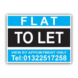 Flat To Let Correx Sign Printed Personalised Boards
