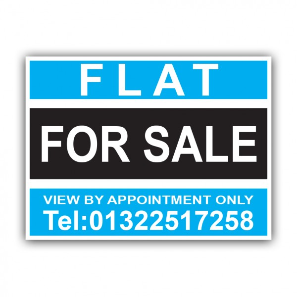 Flat For Sale Correx Sign Printed Personalised Boards